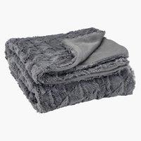 Pläd STENROS 130x170 grå