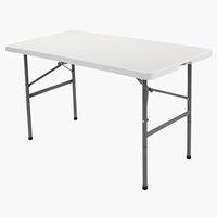 Folding table HOLMEN W60xL121 white