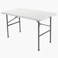 Sklopivi stol HOLMEN Š60xD121 bijela
