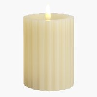 Candle ODEN D8xH10cm white w/LED