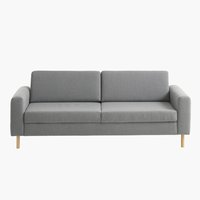 Sofa SVALBARD 3-pers. lysegrå