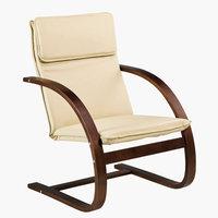 Fotel TUNE kávé/krém textilbőr