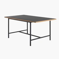 Dining table EGUM 90x160 black/oak