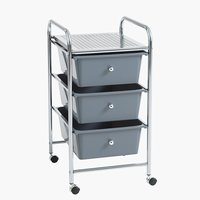 Trolley ALBERTSLUND grey/chrome