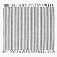 Place mat HVITROT 33x42 white/grey