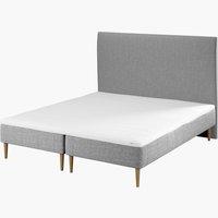 Sänggavel 180x115 H10 slät grå-27