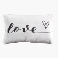 Coussin LOVE 30x50 blanc/gris