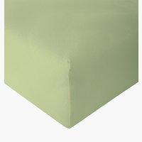 Drap-housse jersey 140x200x30cm vert