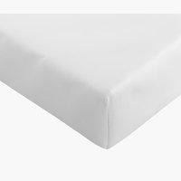 Drap-housse satin 90x200x30cm blanc