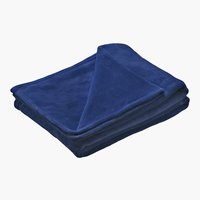 Fleecedecke UNI DE LUXE 140x200 blau
