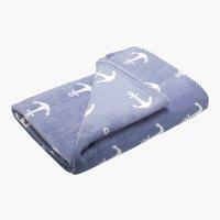 Plaid ANKER polaire 140x200 bleu clair