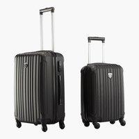 Koffer FIRST CLASS 2Stk/Set schwarz