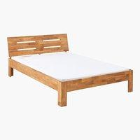 Bed frame OLSKER DBL oak