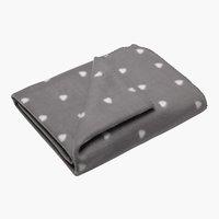 Plaid JANNE pile 130x170 grigio chiaro