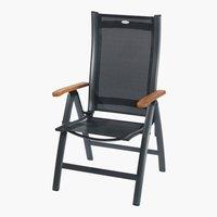 Silla reclinable SG PRESTIGE gris oscuro