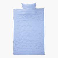 Parure de lit CATERINA Micro SGL bleu