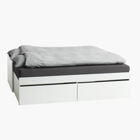 Ram kreveta TRANBJERG 90/180x200 bela