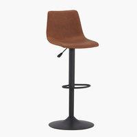 Chaise de bar BROAGER brun