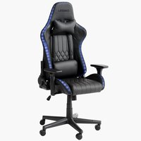 Gaming chair RANUM with LED black