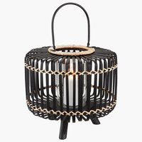Lanterne ENTITA Ø38xH32 bambus svart