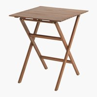 Table bistrot EGELUND 62x62 bois