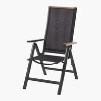 Ανακλινόμενη καρέκλα BREDSTEN μαύρο