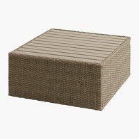 Loungetafel AJSTRUP B70xL70 naturel