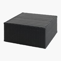 Loungetafel AJSTRUP B70xL70 zwart