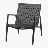 Cadeira lounge EDDERUP preto
