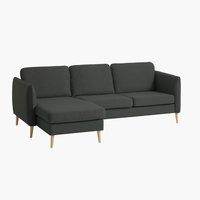 Sofa AARHUS Reclamiere links dunkelgrau