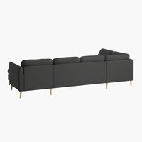Γωνιακός καναπ. AARHUS αρ.σκούρο γκρι