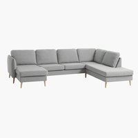 Sofa AARHUS Ecke rechts grau