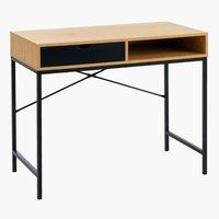 Íróasztal TRAPPEDAL 48x95 tölgy/fekete