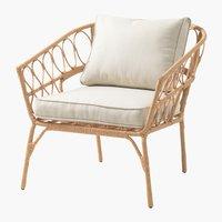 Krzesło wypoczynkowe JENNUM naturalny