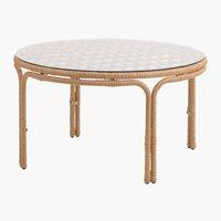 Лаунж столик JENNUM д.50см натура
