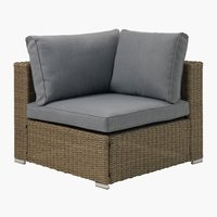 Lounge DALL module d'angle gris