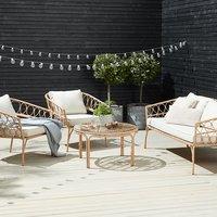 Set muebles jardín JENNUM 5 pers natural