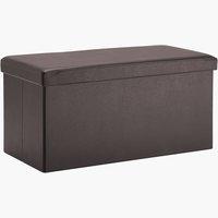 Pouf LADELUND 80x40 contenitore marrone