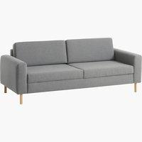 Canapea SVALBARD 3 locuri gri deschis