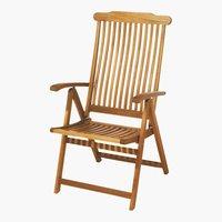 Silla reclinable SANTA FE madera dura