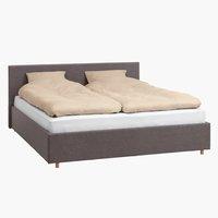 Ліжко EGERSUND 180x200см т.сірий