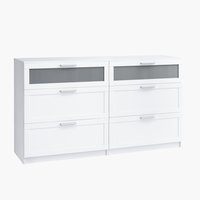Commode AABYBRO 3+3 lades wit