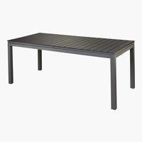 Table LAS VEGAS XXL 90x200/260 noir