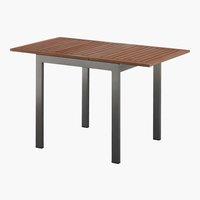 Table YTTRUP 70x75/126 bois