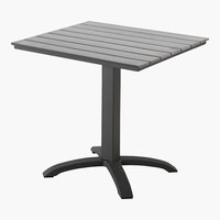 Table bistrot MIAMI 70x70 gris