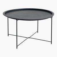 Tavolino RANDERUP Ø75 nero