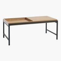 Tavolino TRAPPEDAL 50x100 rovere/nero
