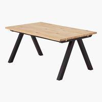 Table NEW YORK 100x160 chêne/noir