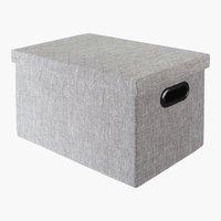 Caixa arrum ALINA L24xC34xA20cm cinzento