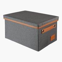 Aufbewahrungsbox LARA 21x31x18cm d.grau